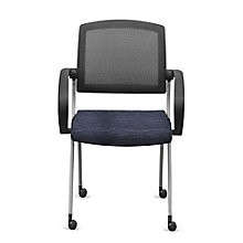 Fabric Nesting Chairs with Arms and Mesh Back - Set of Four, 8808168