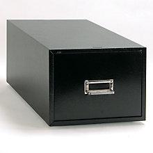 "Black Single Drawer 6"" x 9"" Card File, BDY-1369-4"