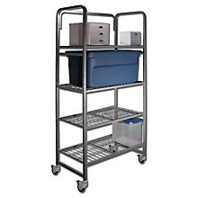 Mobile Four Shelf Storage Rack, BDY-5418-3