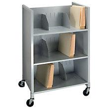 Mobile Three Tier File Folder Cart, BDY-5428-32