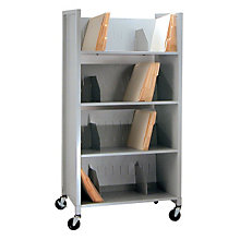 Mobile Four Tier File Folder Cart, BDY-5429-32