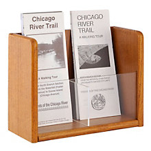 Two Pocket Trifold Brochure Rack, 8804525
