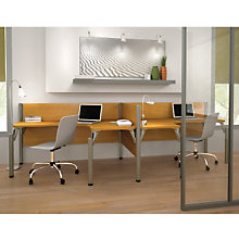 Pro Biz Side-by-Side Double L-Shaped Workstation, BES-100856A
