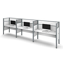 Pro Biz Triple Workstation with Plexiglass Panels, BES-100872D