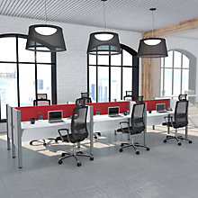 "Pro Biz Six Person Workstation with 43""H Tack Board Panels, 8804851"