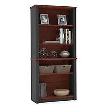 """Prestige Plus Five Shelf Bookcase - 66.8""""H, 8804471"""