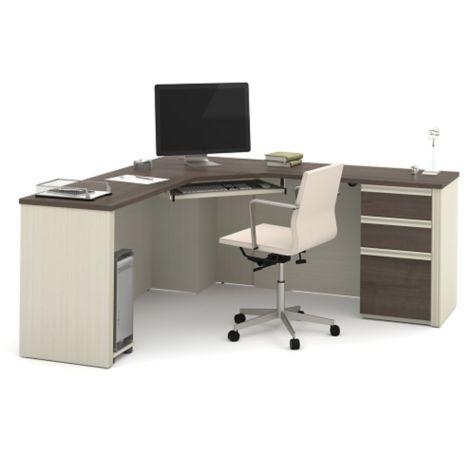 71 Quot W Bestar Prestige Plus Corner Desk Set