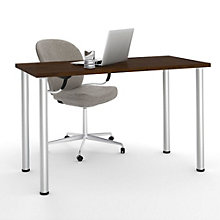 "Table Desk with Round Metal Legs - 47.6""W, BES-11191"