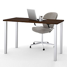 "Table Desk with Square Metal Legs - 47.6""W, BES-11193"