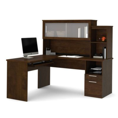 sutton lshaped desk with hutch bes11197