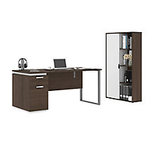 2-Piece Desk and Bookcase Set, 8828621