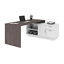 Home Office L-Desk with Storage, 8828623