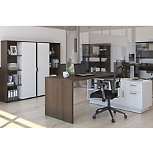 Home Office L-Desk and Two Bookcase Set, 8828625