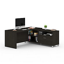 "Pro Linea L-Desk with Drawers - 71""W, 8804032"