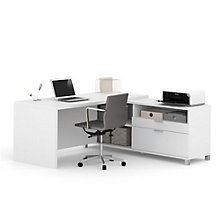 """Pro Linea L-Desk with Drawers - 71""""W, 8804032"""