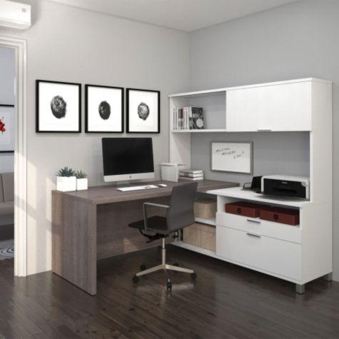 Bark Gray/White shown in an office