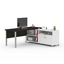 "Pro Linea L-Desk with Drawers - 71.1""W, 8804028"