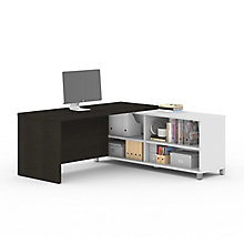 "Pro Linea Four Shelf L-Desk - 71""W, 8804022"