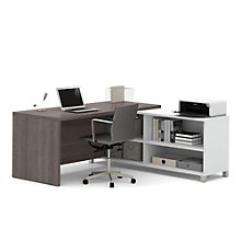 "Pro Linea Four Shelf L-Desk - 71""W, 8804022"