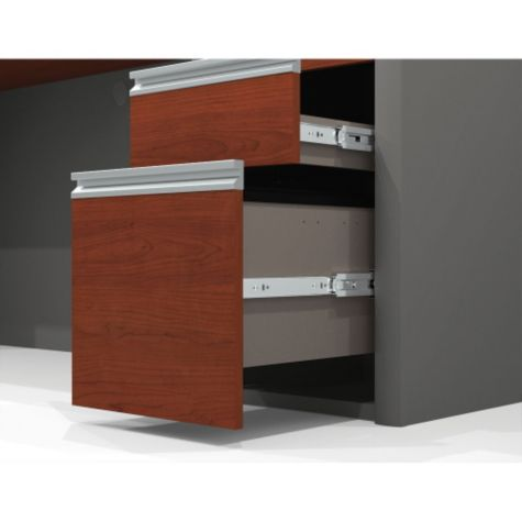 File drawers open smoothly on ball bearing glides