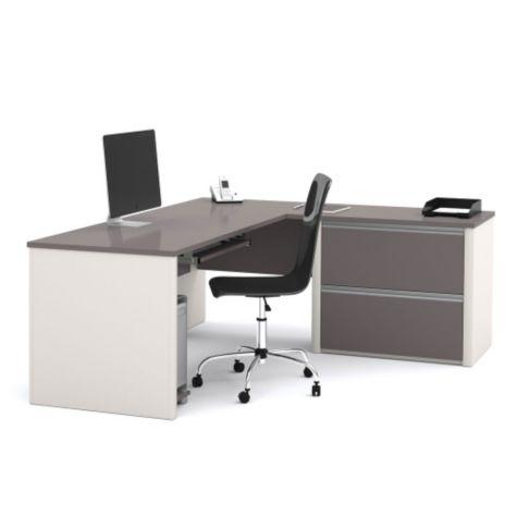 L Desk shown in Slate/Sandstone