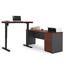 "Prestige Plus L-Desk with Reversible Adjustable Height Return - 71.125""W, 8803934"