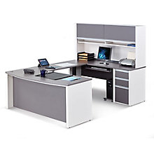 Connexion Executive U-Desk with Adjustable Height Bridge, 8803942