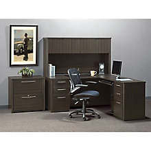 Embassy Reversible L-Desk, Hutch and File Set, 8822267