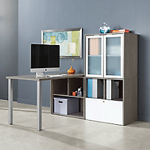 "L-Desk with Hutch - 60""W, 8825808"