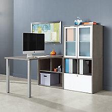 """L-Desk with Hutch - 60""""W, 8825808"""