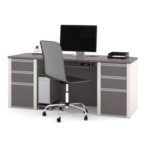 Bowfront desk - Interior view