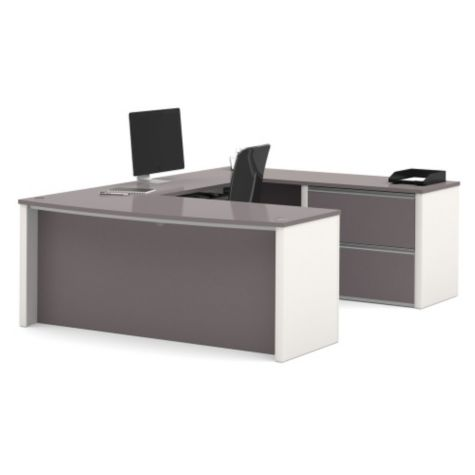 U-desk in Slate/Sandstone