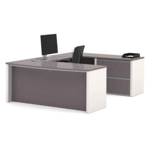 U-desk in Slate/Sandstone