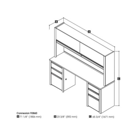 Credenza and hutch dimensions