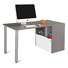 "Compact Desk with One File Drawer - 60""W, 8825811"