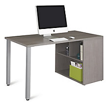 "Compact Desk with Open Storage - 60""W, 8825812"
