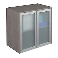 "Boardwalk Hutch with Frosted Glass Doors - 30.1""W, 8823837"