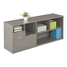 "Five Shelf Credenza with File Drawer - 71.1""W, 8823839"