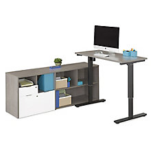 "Adjustable Height L-Desk - 72""W, 8825816"
