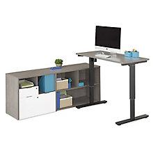 "Adjustable Height L-Desk - 72""W, 8825816"