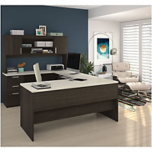 "Ridgeley U-Desk with Hutch - 65""W, 8808005"