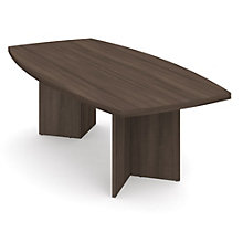 "Boat Shape Conference Table with 1-3/4"" Thick Top - 96"" x 48"", 8802822"
