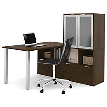 "i3 Table Desk With Glass Door Hutch - 60""W, 8802195"