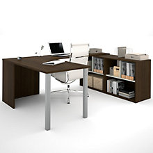 "i3 U-Desk With Cubby Storage - 88.5""W, 8802210"
