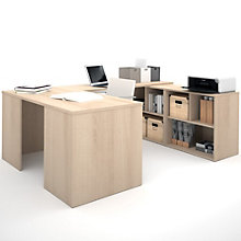 i3 Reversible U-Desk With Cubbies, 8802219