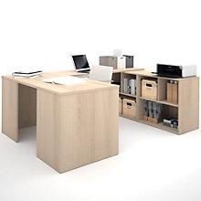 i3 Reversible U-Desk With Cubbies, 8802219