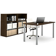 i3 Metal Leg Table Desk and Storage, 8802220