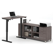 Pro Linea Adjustable Height L-Desk, 8804339