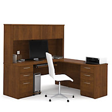 Embassy Reversible Executive L Desk with Hutch, 8804689