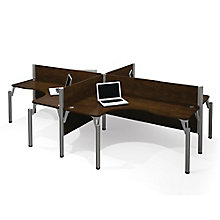 Pro Biz Four Person L-Desk Workstation , 8804736